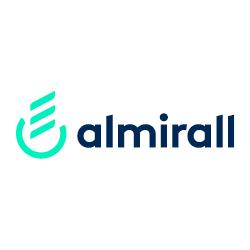 Logo de almirall sobre fondo blanco